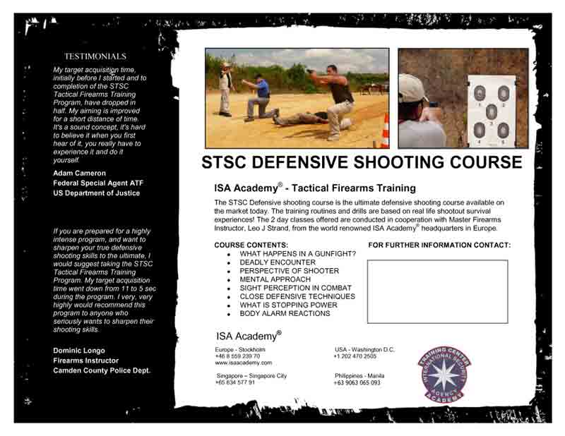 ISA Academy® Bodyguard Training and Executive Protection School